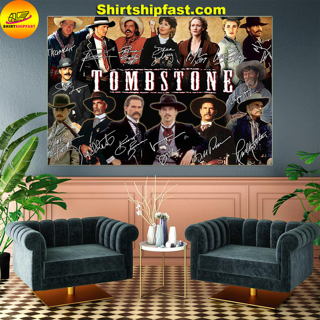 Tombstone actors signatures poster - Picture 2