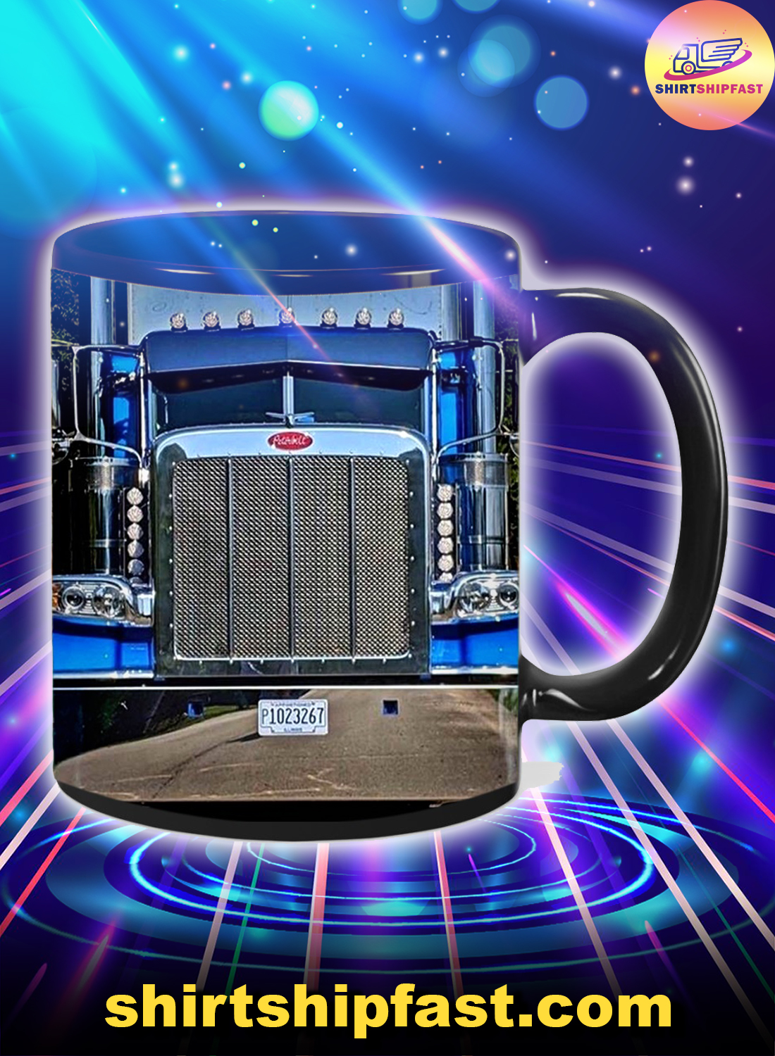 Truck driver Home is where you park it mug - Black