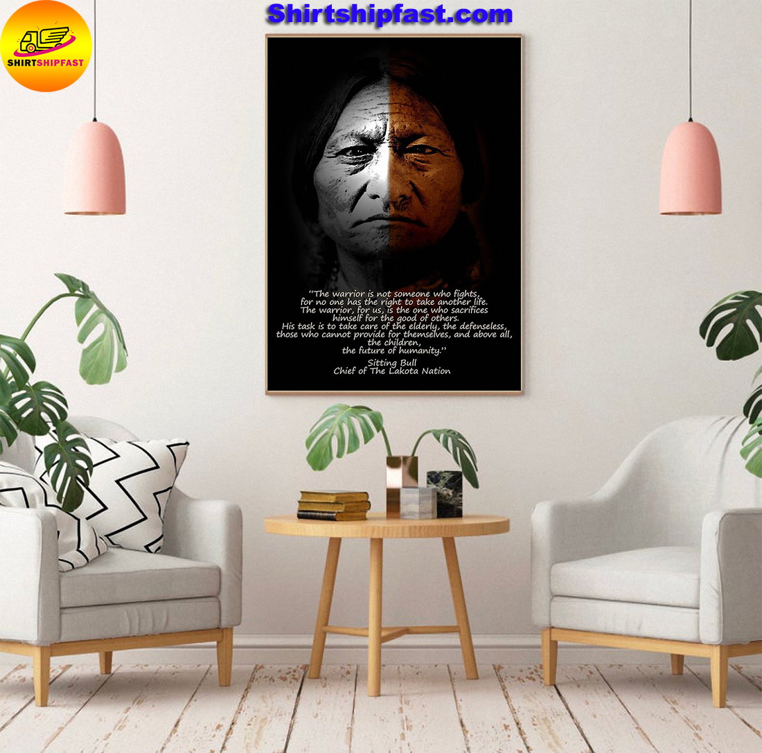 Warrior Sitting Bull Chief of the Lakota nation poster - Picture 1