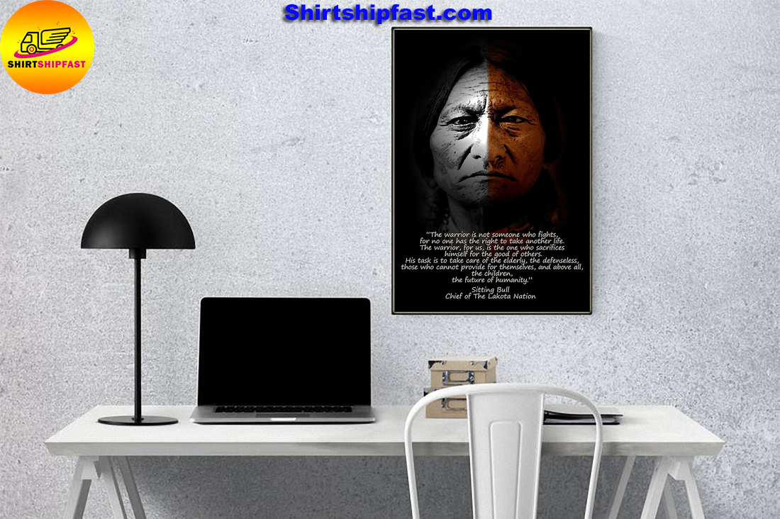 Warrior Sitting Bull Chief of the Lakota nation poster - Picture 2