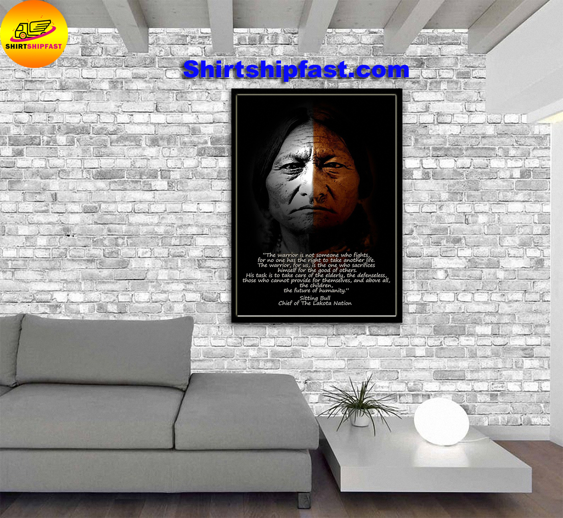 Warrior Sitting Bull Chief of the Lakota nation poster - Picture 3