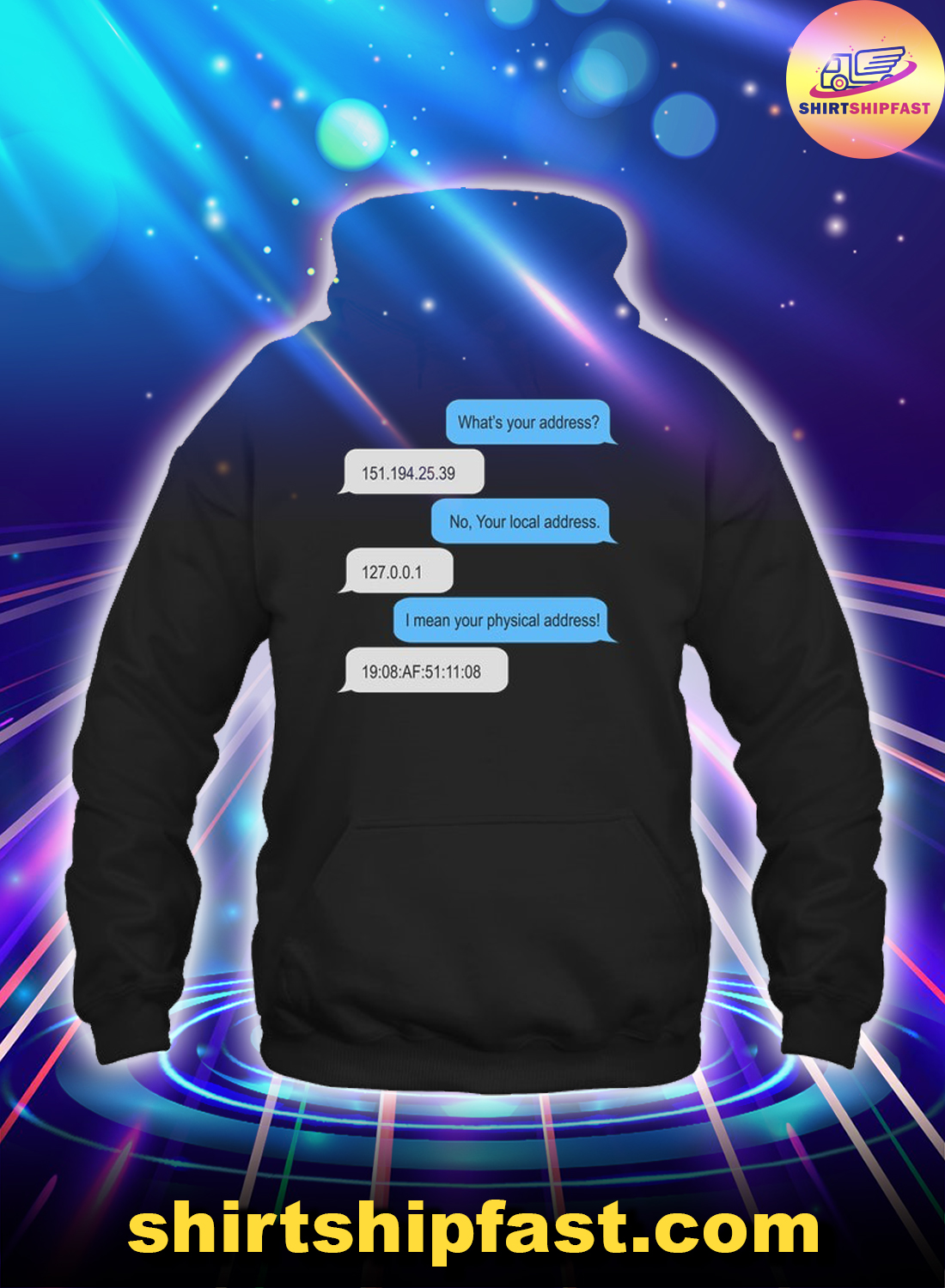 What's your address hoodie