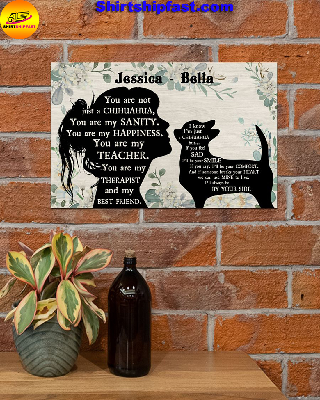 You are not just a chihuahua personalized poster - Picture 2
