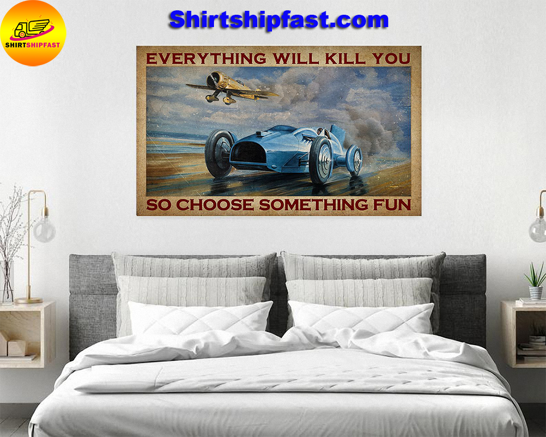Aircraft Open-wheel car everything will kill you so choose something fun poster - Picture 2