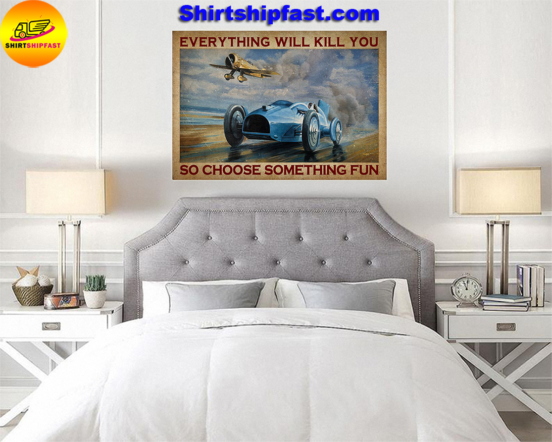Aircraft Open-wheel car everything will kill you so choose something fun poster - Picture 3