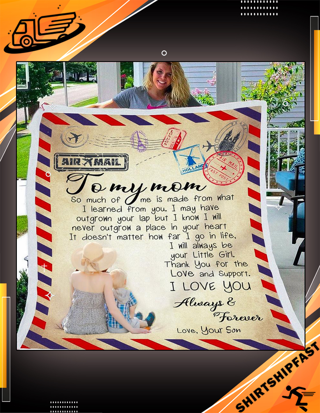 Airmail To my mom so much of me is made from what I learned from you blanket - Picture 3