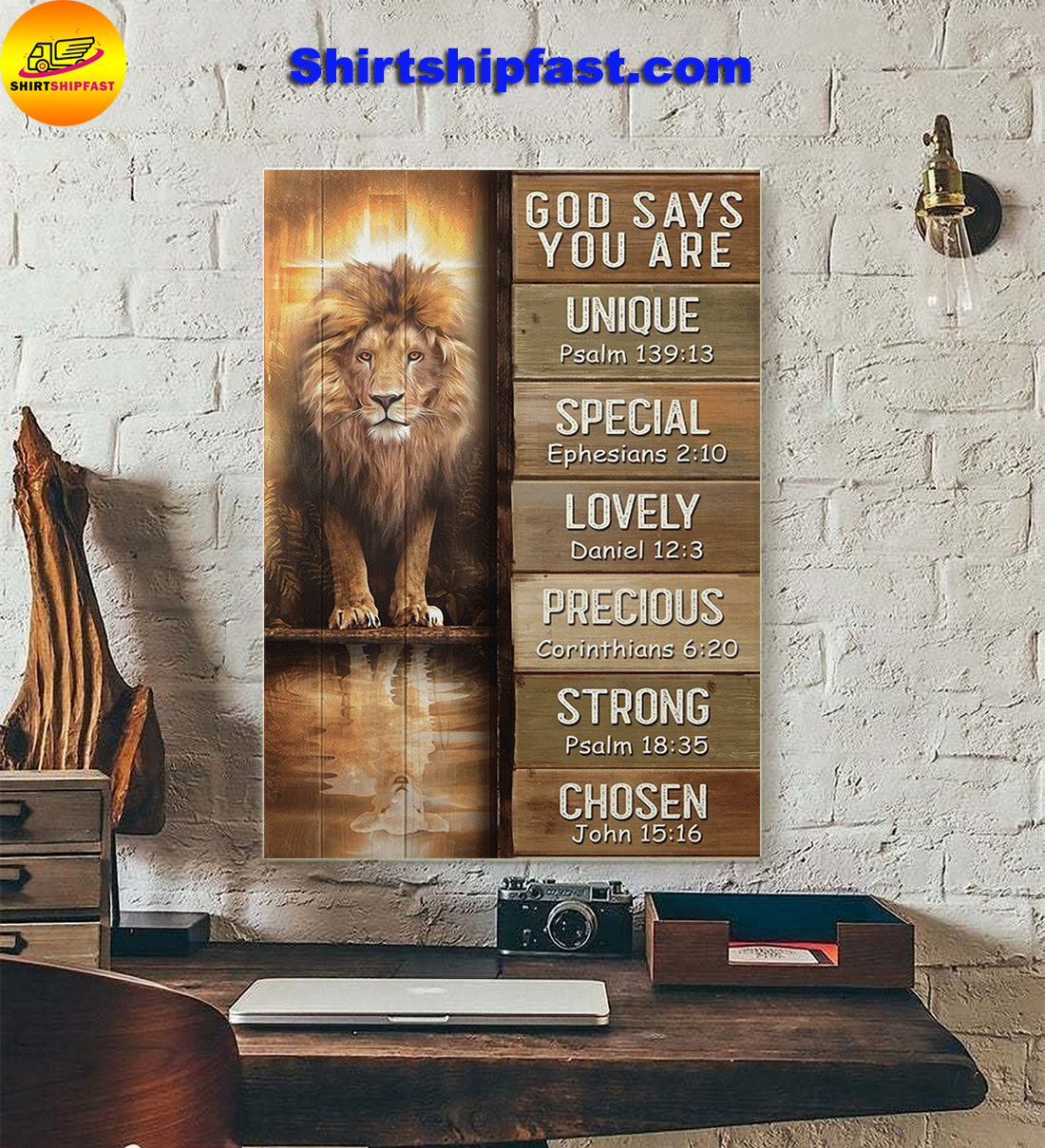 Amazing Lion God says you are canvas - Picture 1