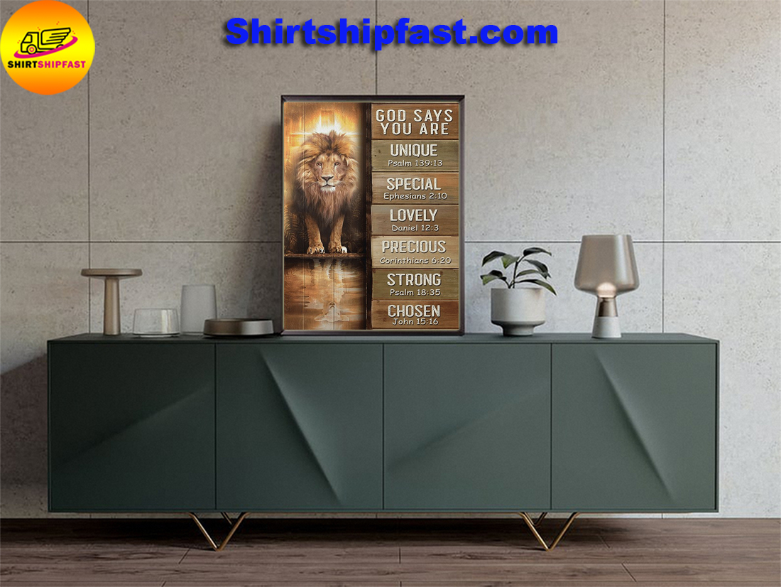 Amazing Lion God says you are canvas