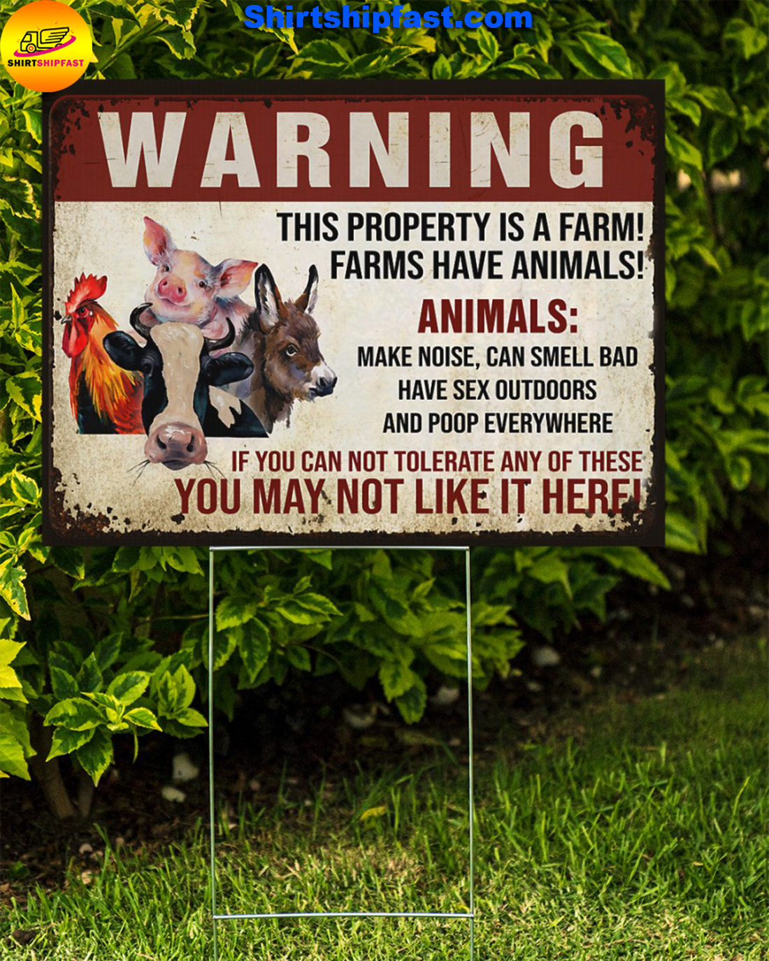 Animals Warninng this property is a farm yard signs - Picture 1