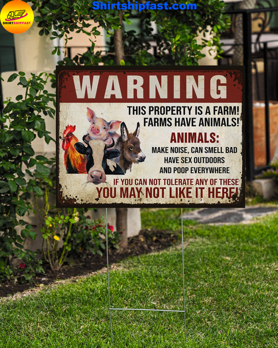 Animals Warninng this property is a farm yard signs - Picture 2