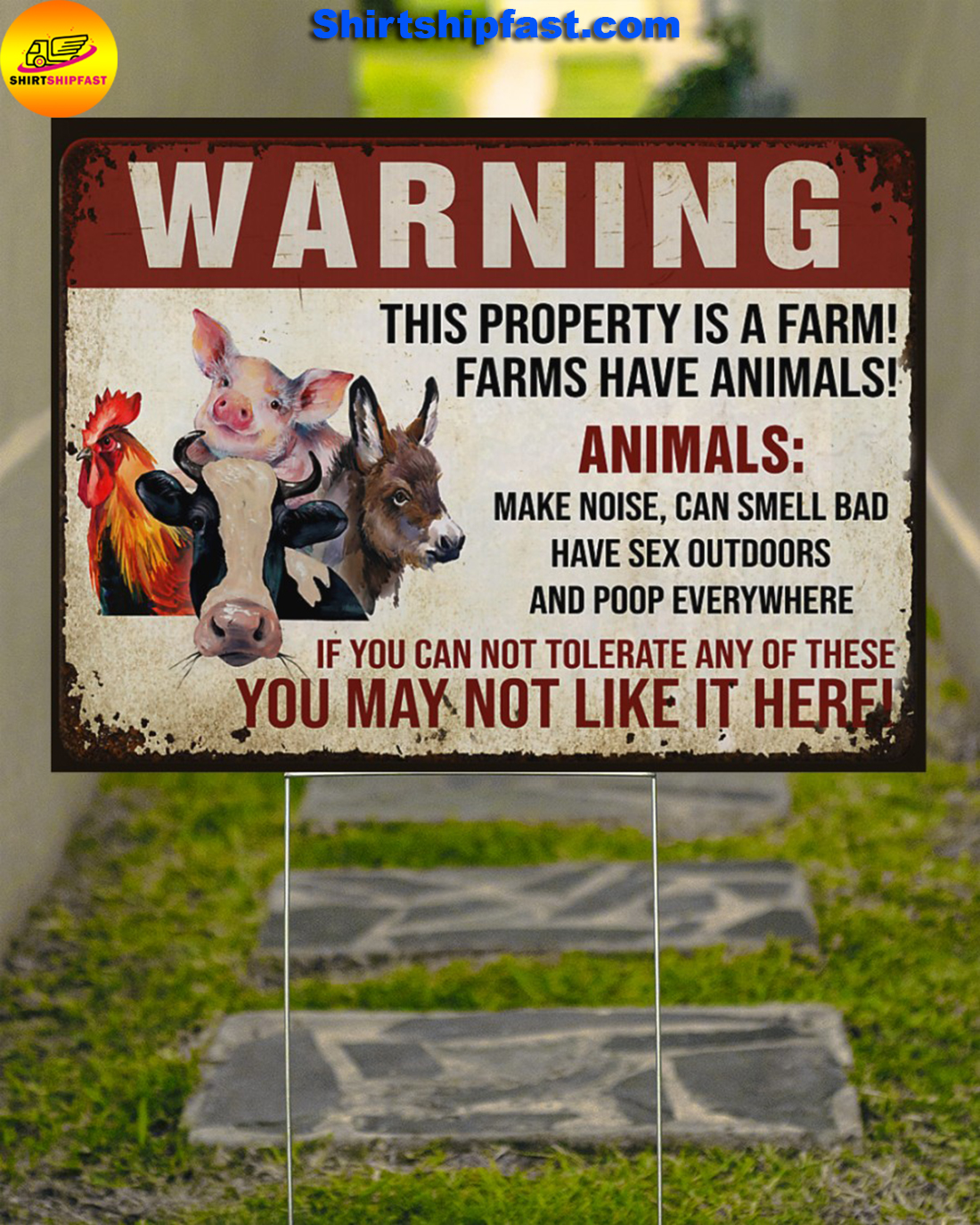 Animals Warninng this property is a farm yard signs - Picture 3