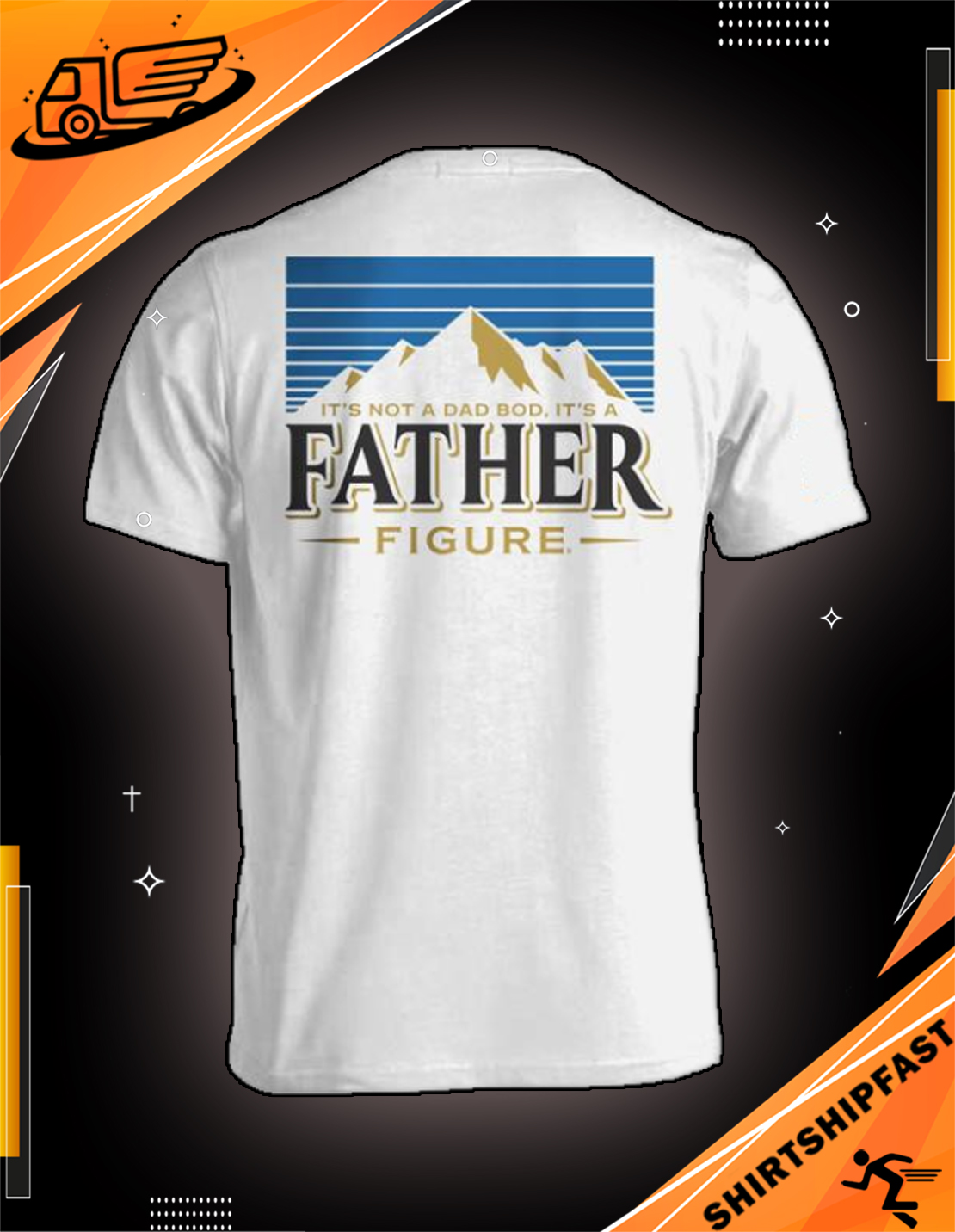 Busch Light It's not a dad bod It's a father figure shirt - Picture 2