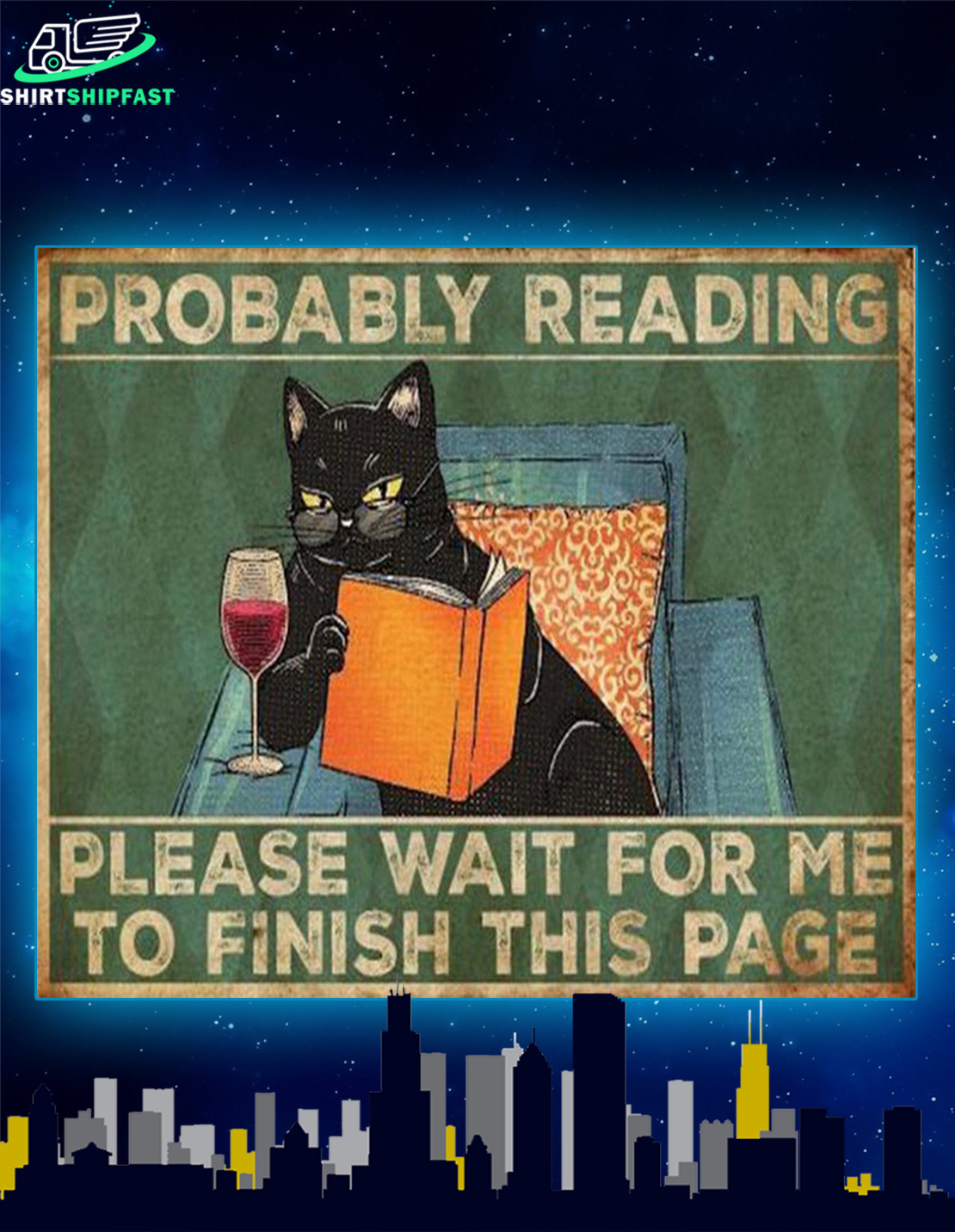 Cat reading book Probably reading please wait for me to finish this page doormat - Picture 2
