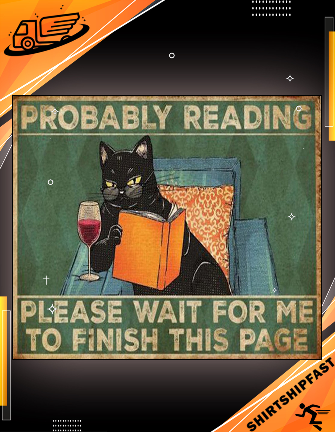 Cat reading book Probably reading please wait for me to finish this page doormat - Picture 3