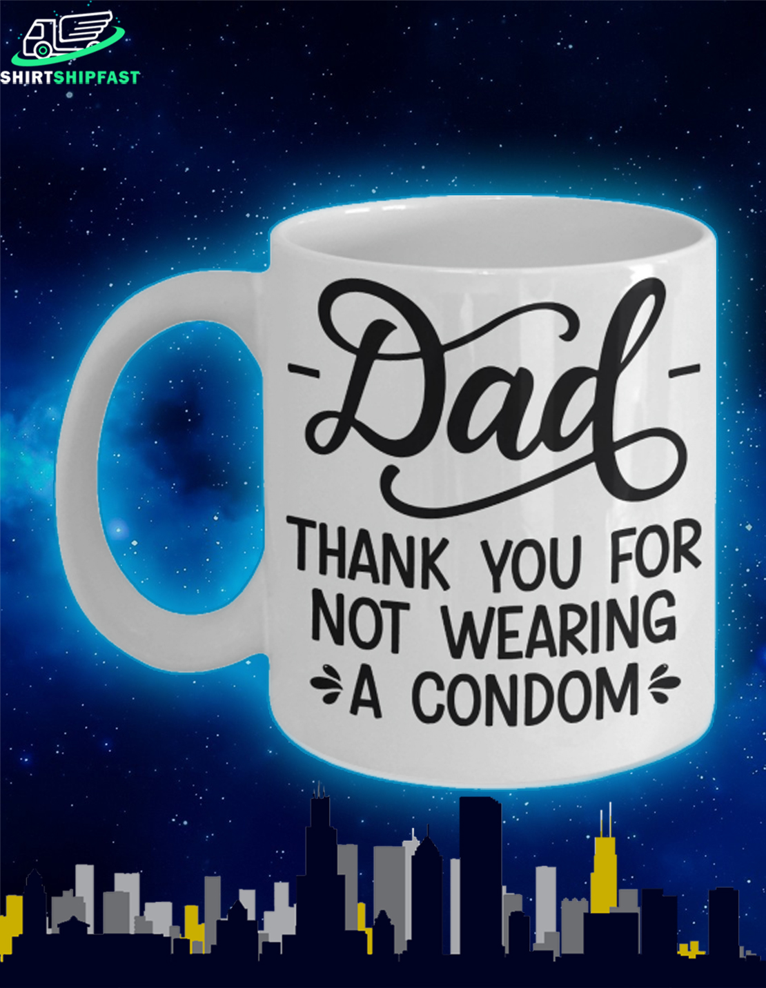 Dad thank you for not wearing a condom mug - Picture 1