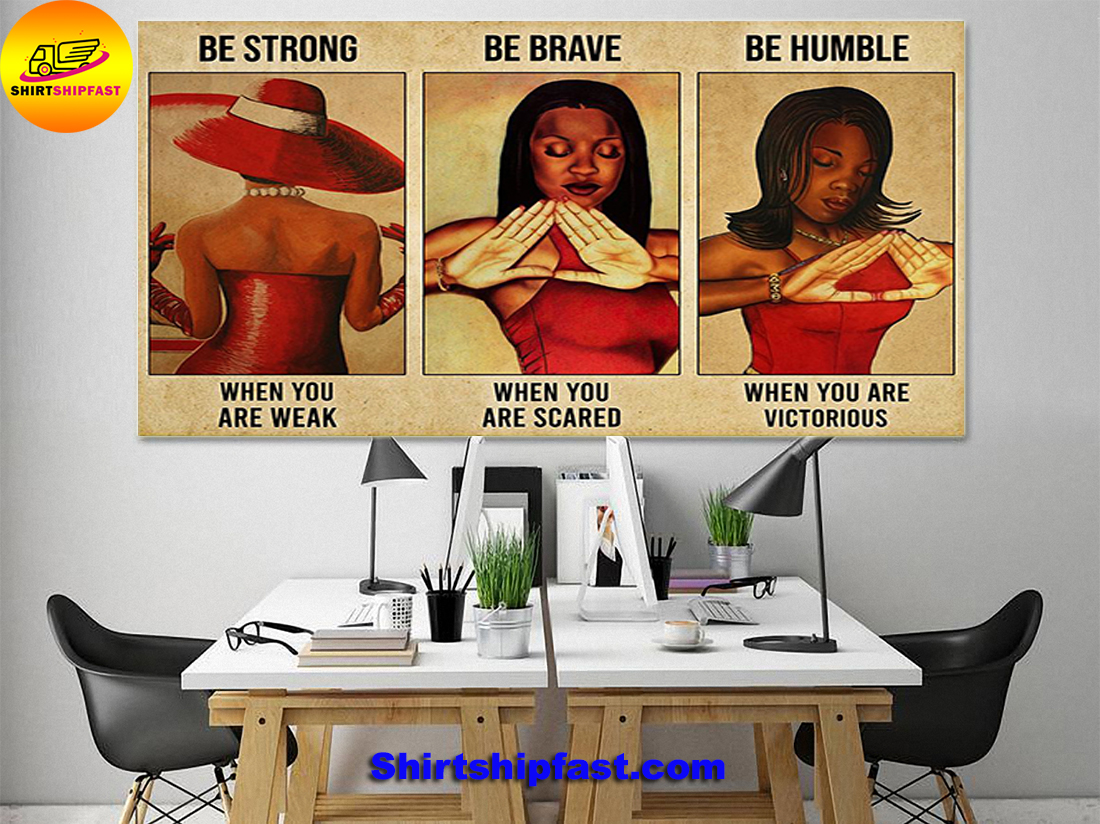 Delta Girl be strong be brave be humble poster - Picture 1