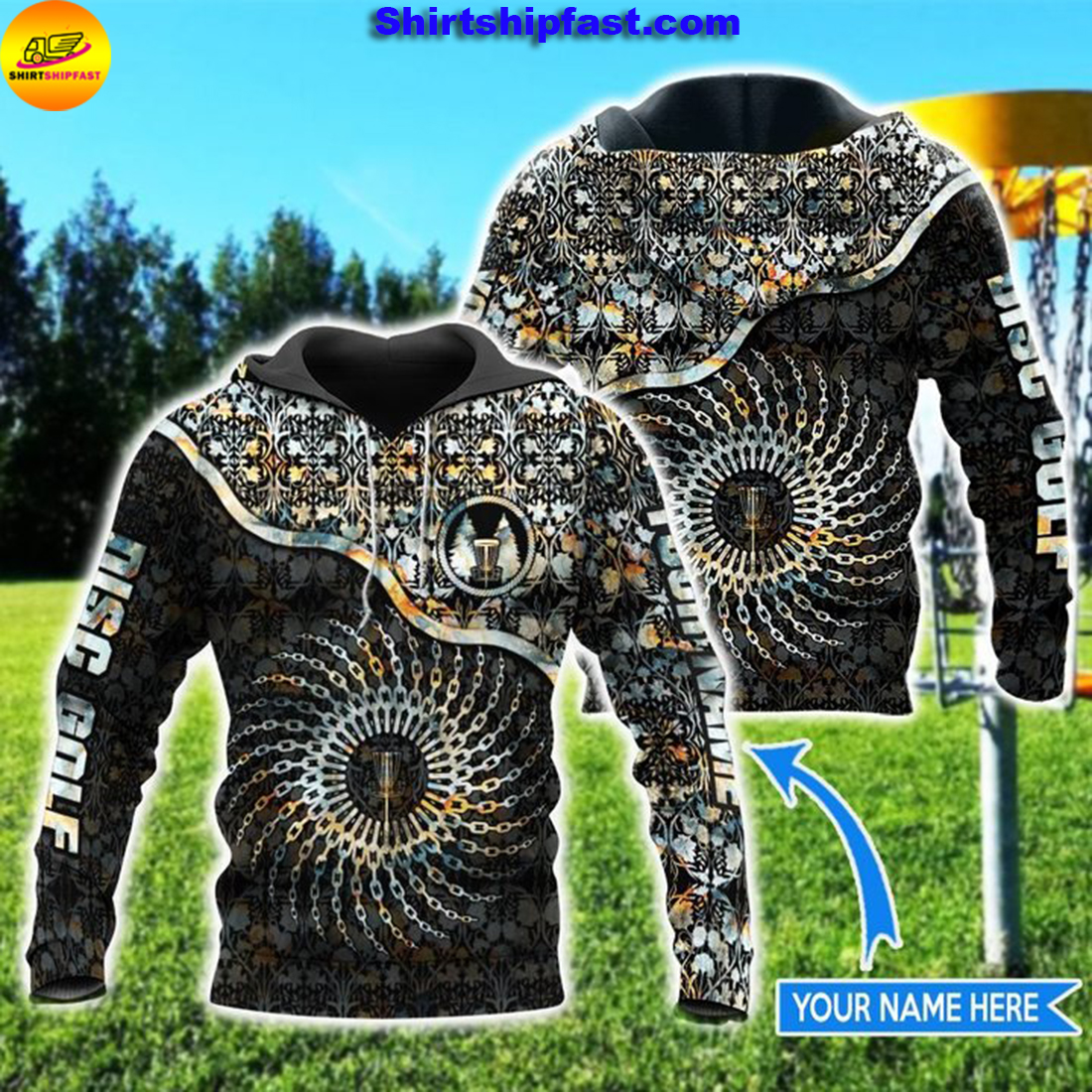 Disc golf chain personalized 3d hoodie