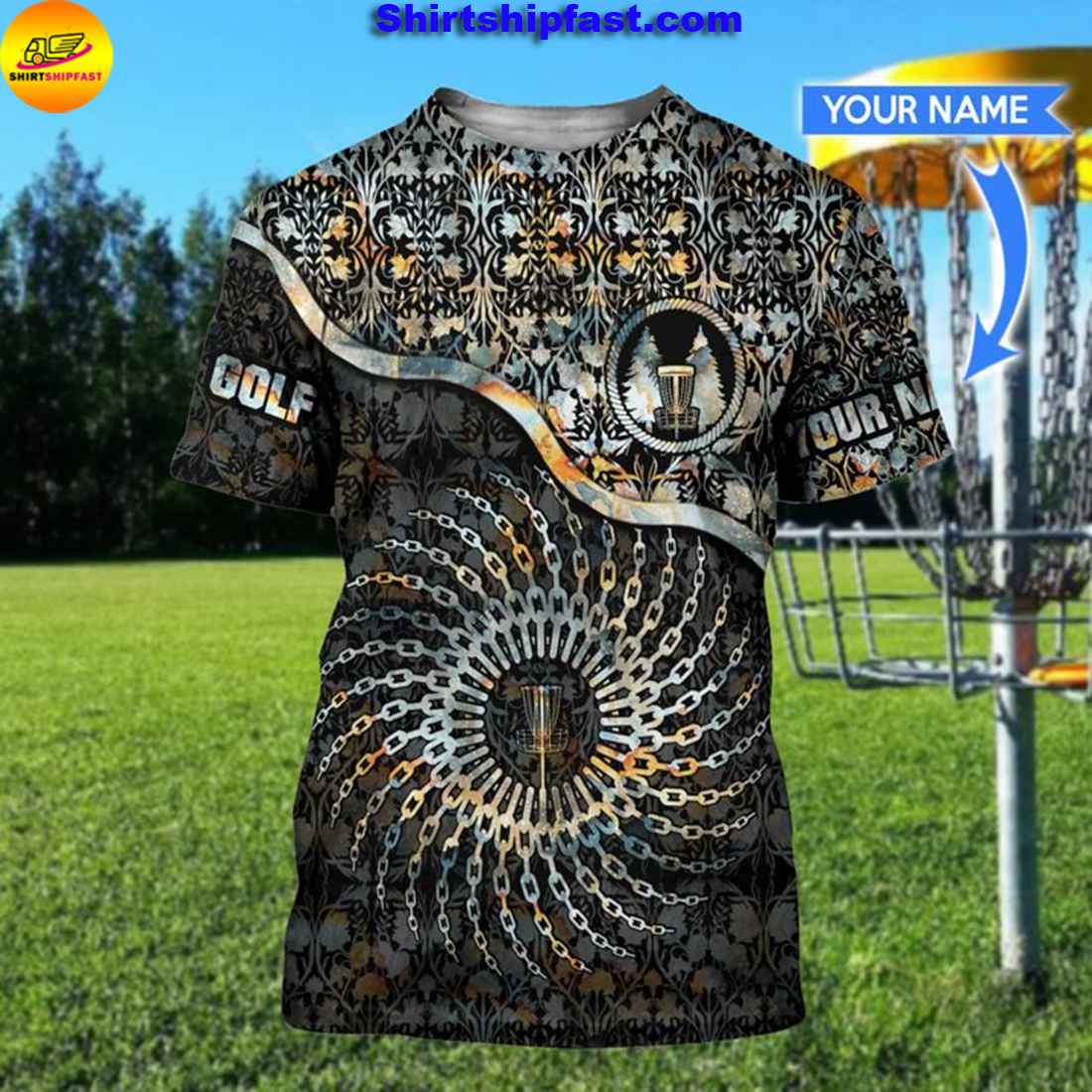 Disc golf chain personalized 3d t-shirt