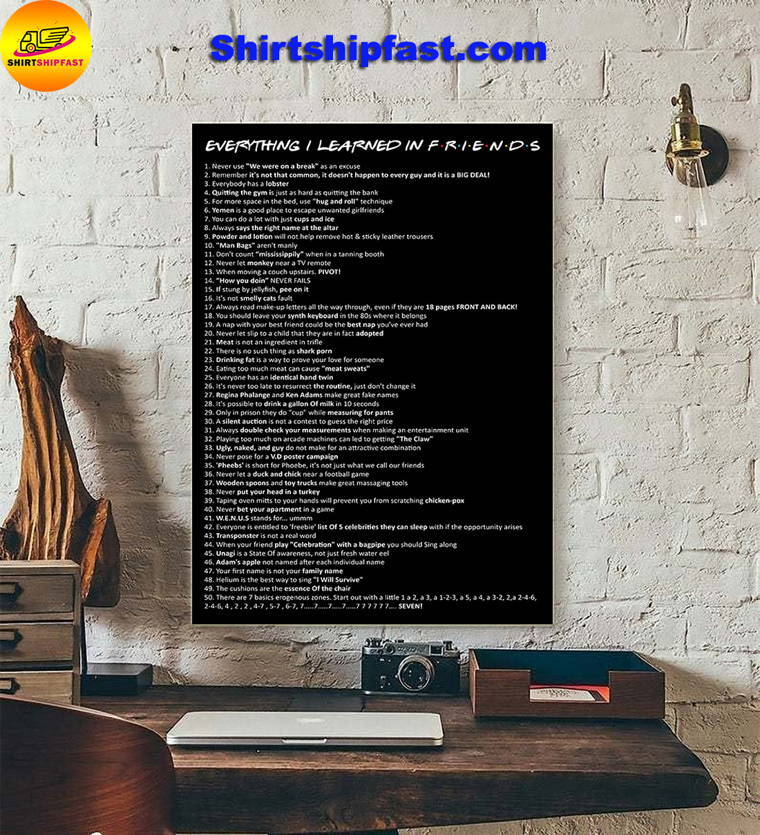 Everything I learned in Friends poster