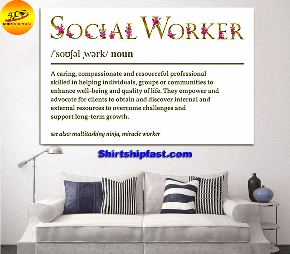 Flower Social worker definition poster - Picture 1