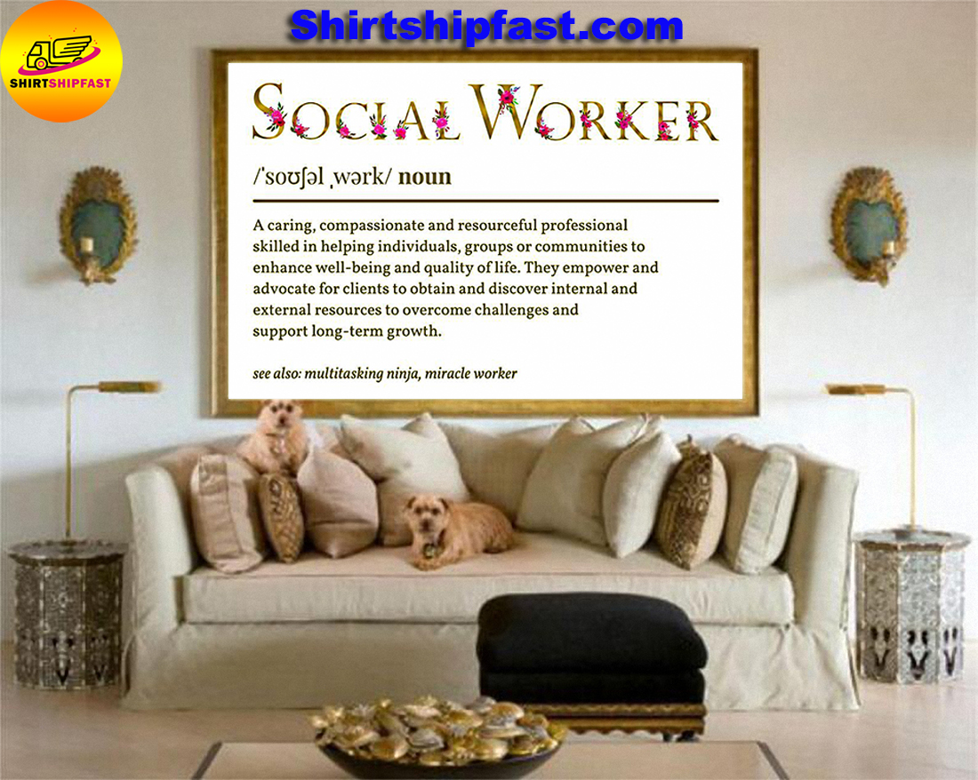 Flower Social worker definition poster - Picture 3