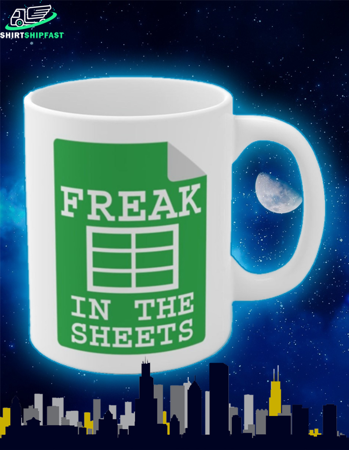 Freak in the sheets mug - Picture 2