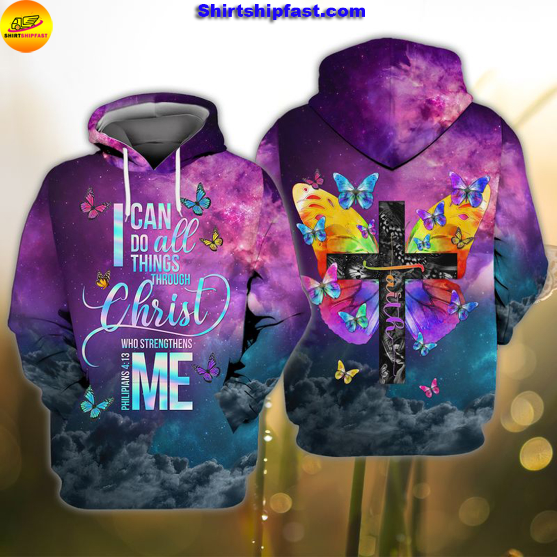God faith I can do all things through Christ who strengthens me 3d hoodie