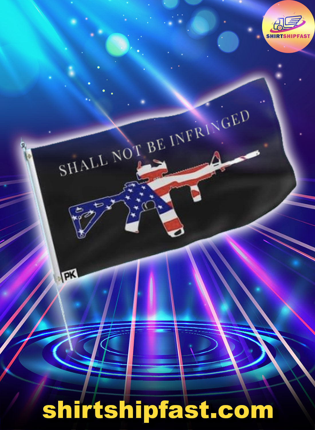 Gun Shall not be infringed flag - Picture 1