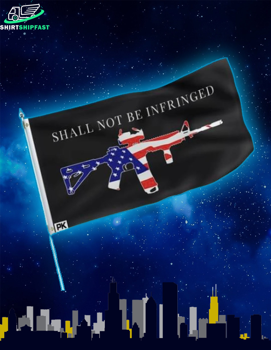 Gun Shall not be infringed flag - Picture 2