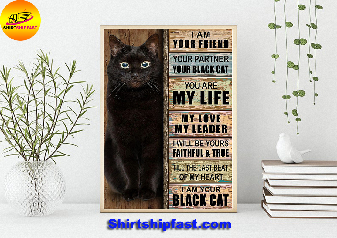 I am your friend your partner your black cat poster - Picture 2