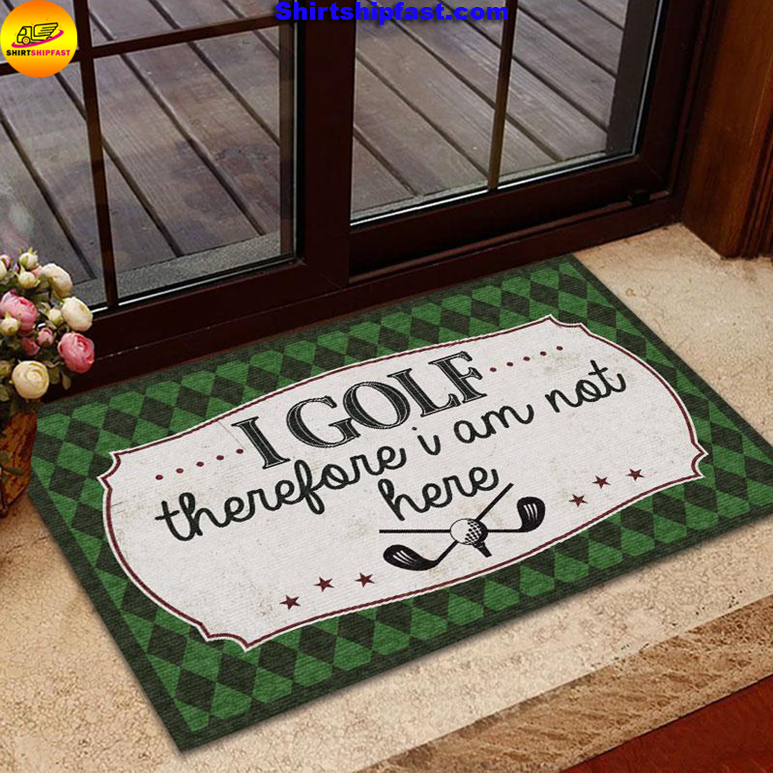 I golf therefore I am not here doormat - Picture 1