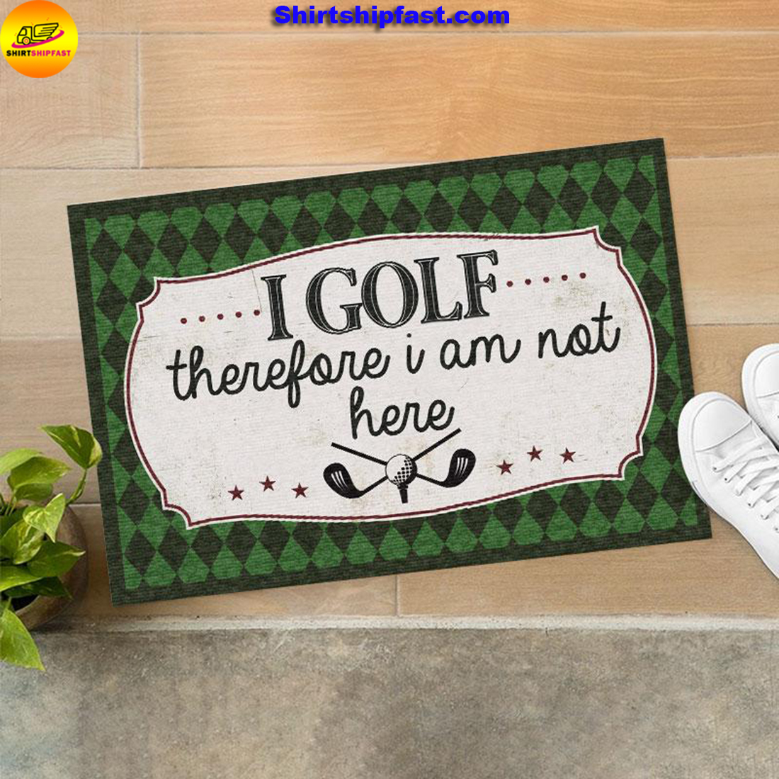 I golf therefore I am not here doormat - Picture 2