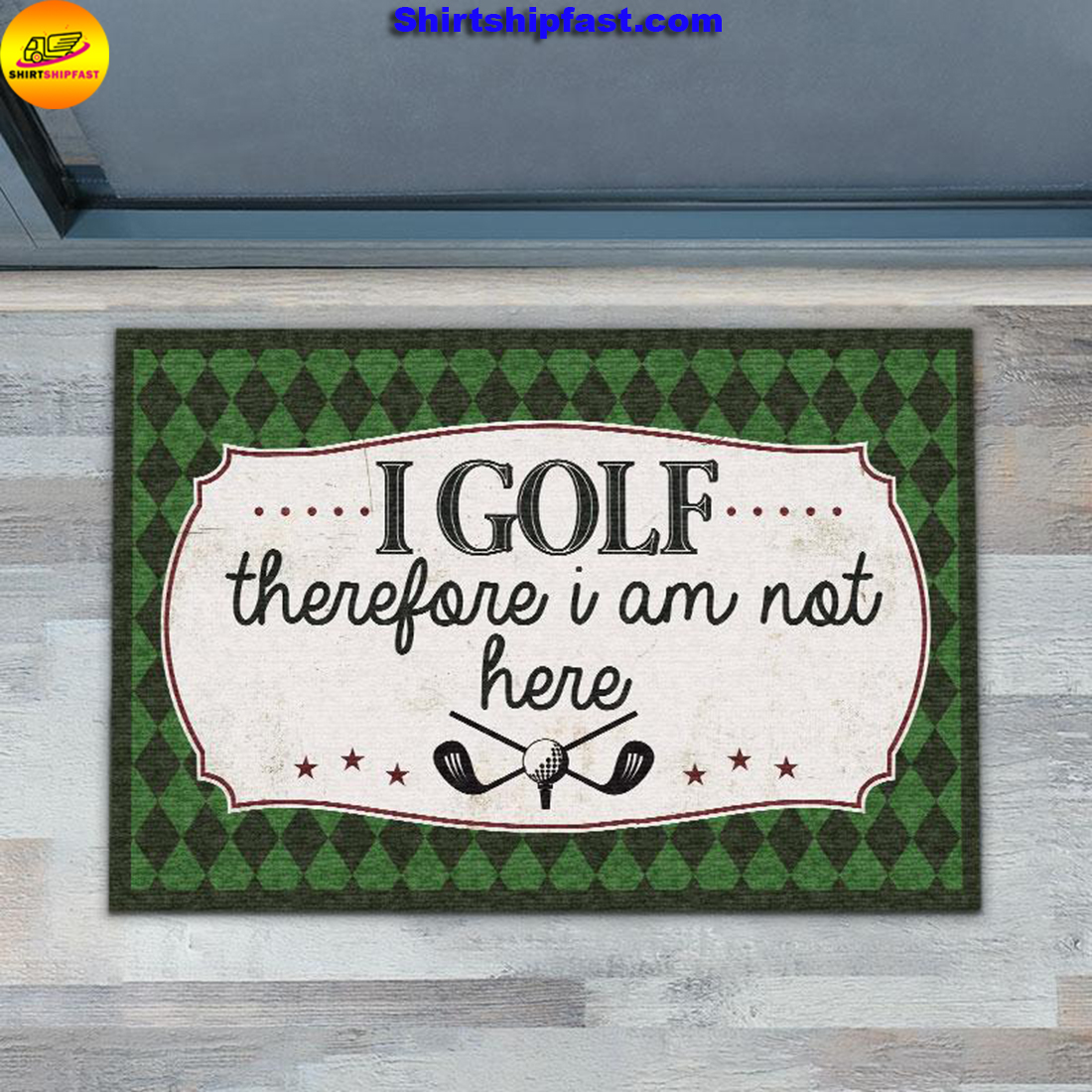 I golf therefore I am not here doormat - Picture 3