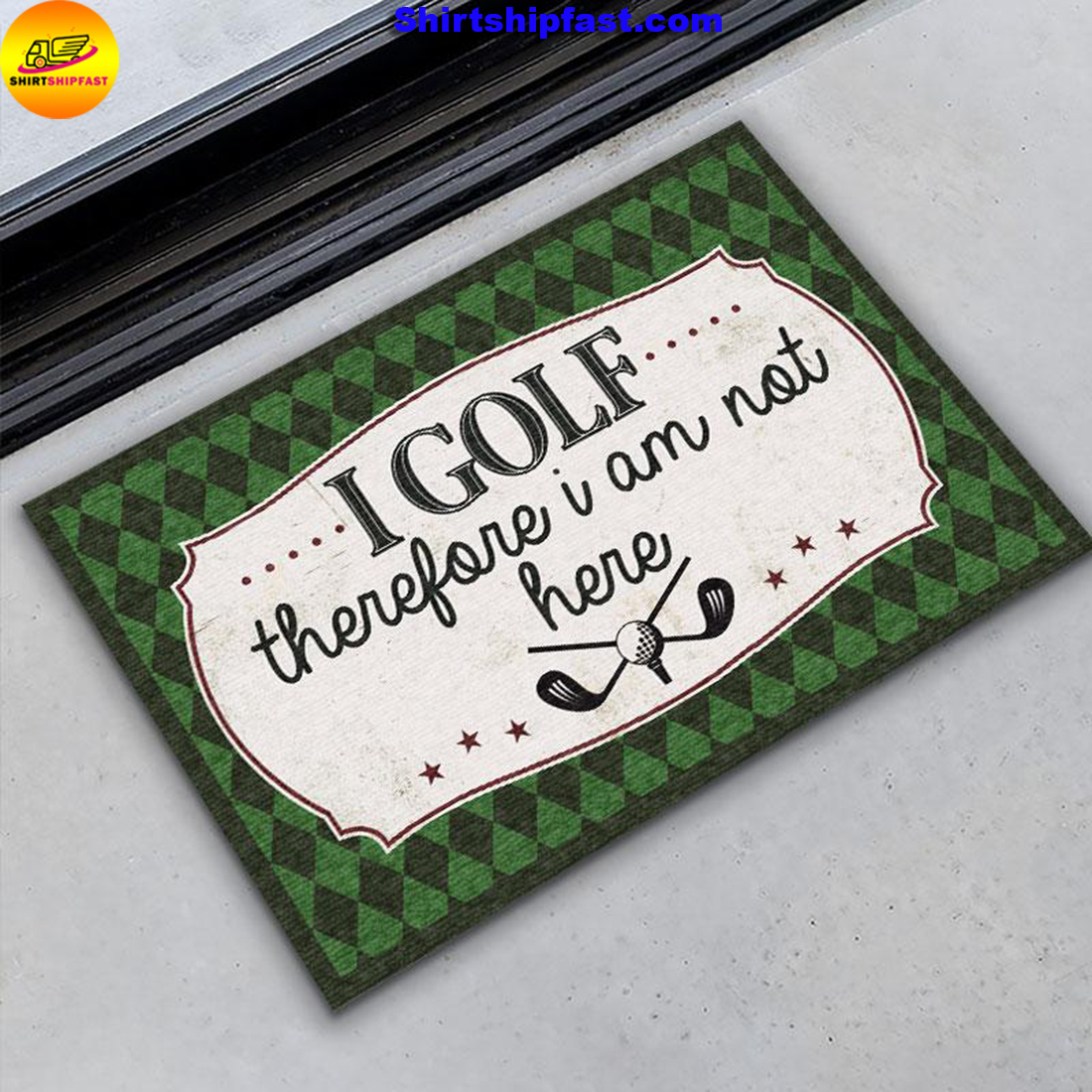 I golf therefore I am not here doormat