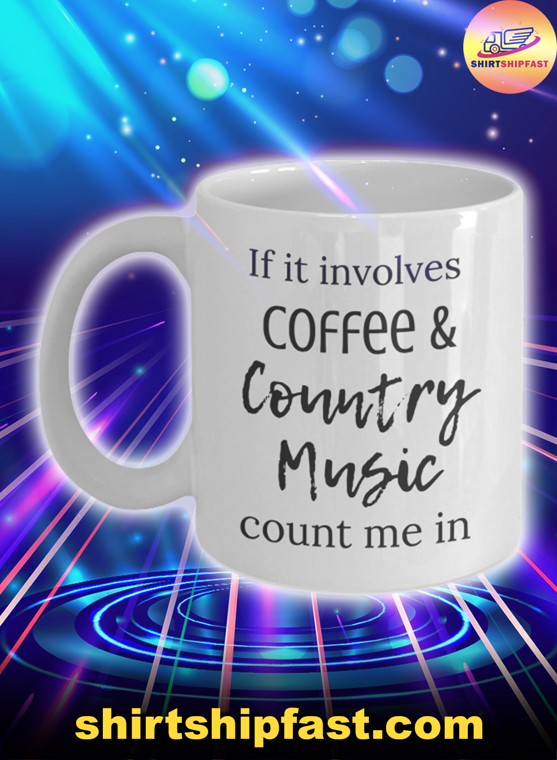 If it involves coffee and country music count me in mug - Picture 1
