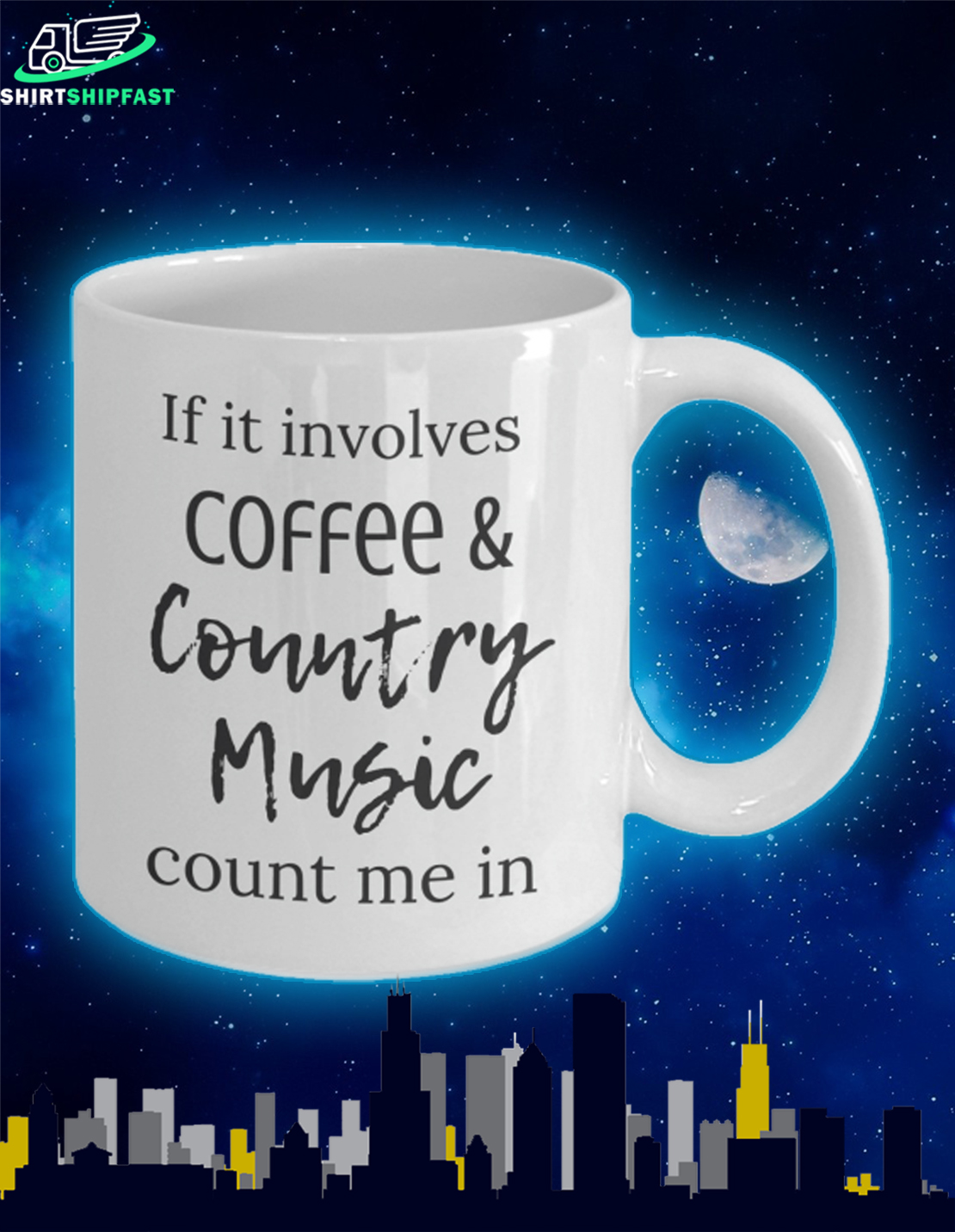 If it involves coffee and country music count me in mug - Picture 2