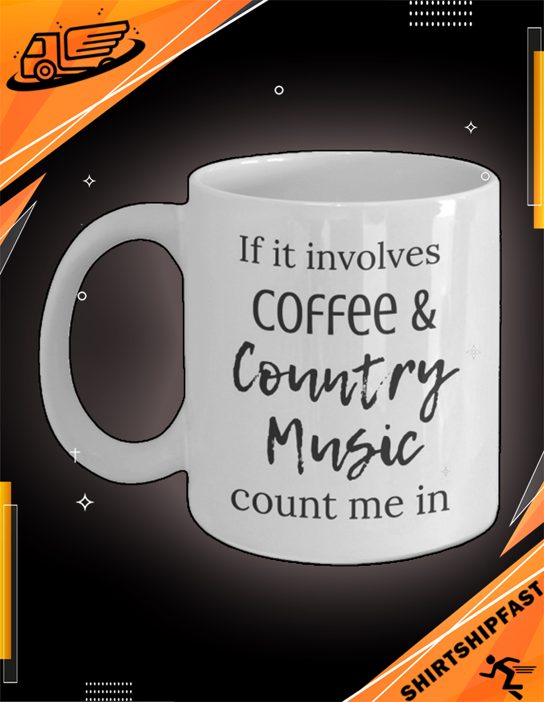 If it involves coffee and country music count me in mug - Picture 3