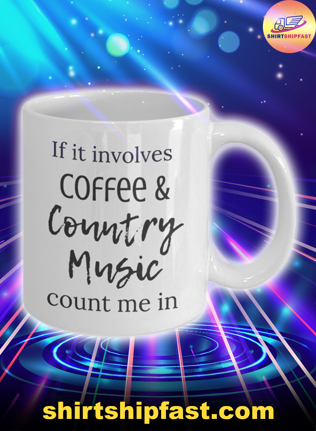 If it involves coffee and country music count me in mug