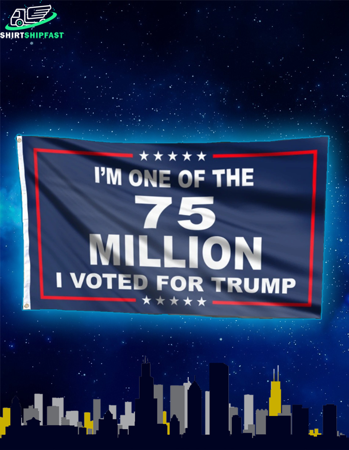 I'm one of the 75 million I voted for Trump flag - Picture 2