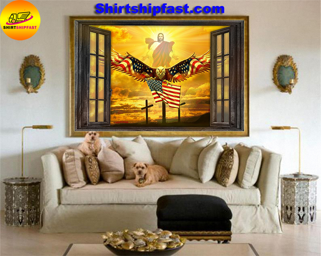 Jesus Eagle in the sky have faith poster - Picture 2