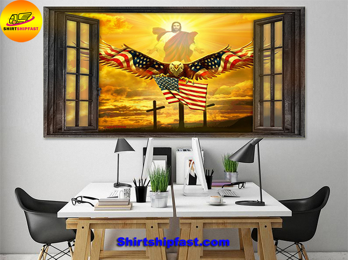 Jesus Eagle in the sky have faith poster - Picture 3