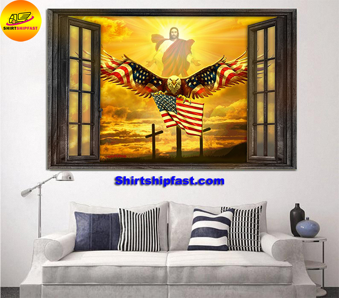 Jesus Eagle in the sky have faith poster