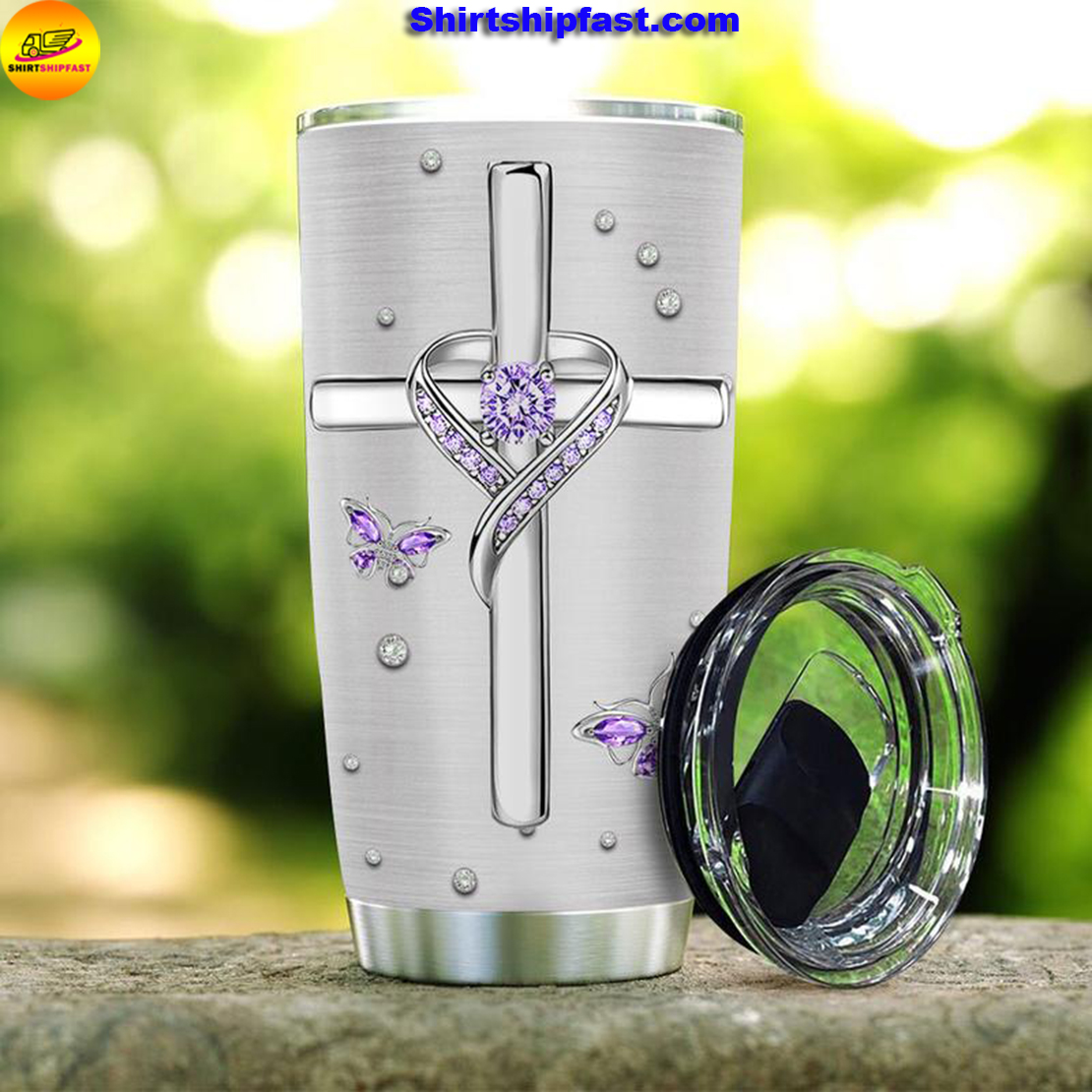 Jewelry butterfly faith tumbler - Picture 2