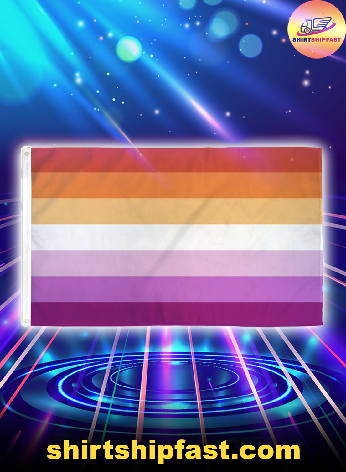 Lesbian sunset flag - Picture 1