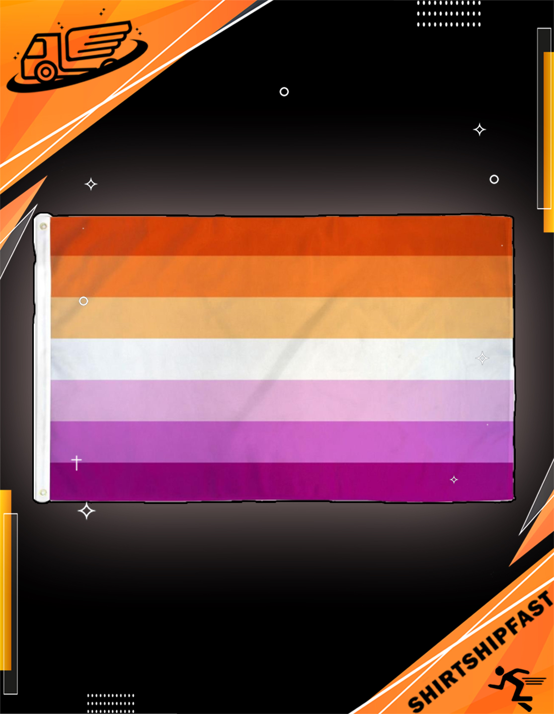 Lesbian sunset flag - Picture 3