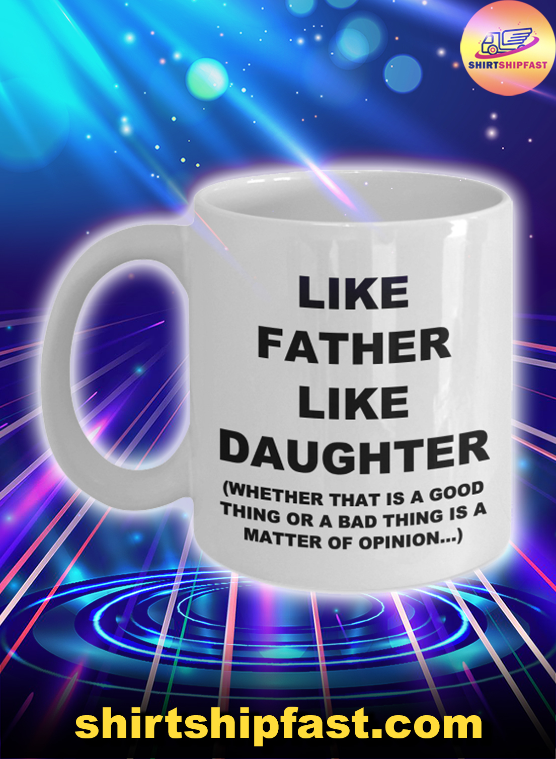 Like father like daughter father's day mug - Picture 1