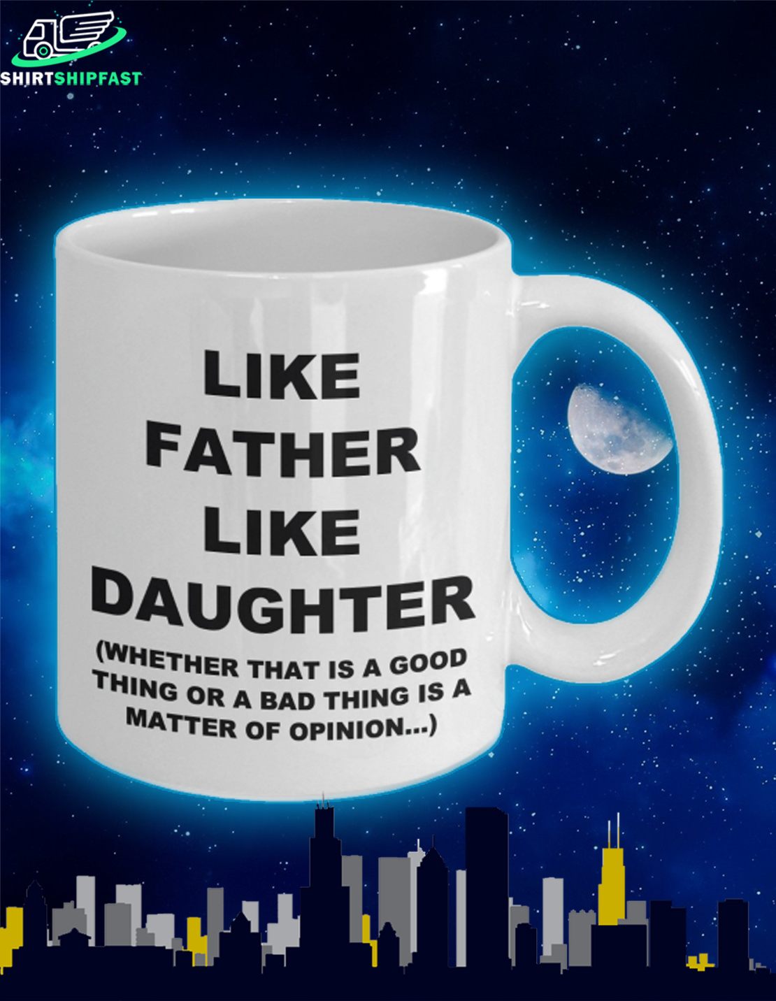 Like father like daughter father's day mug - Picture 2