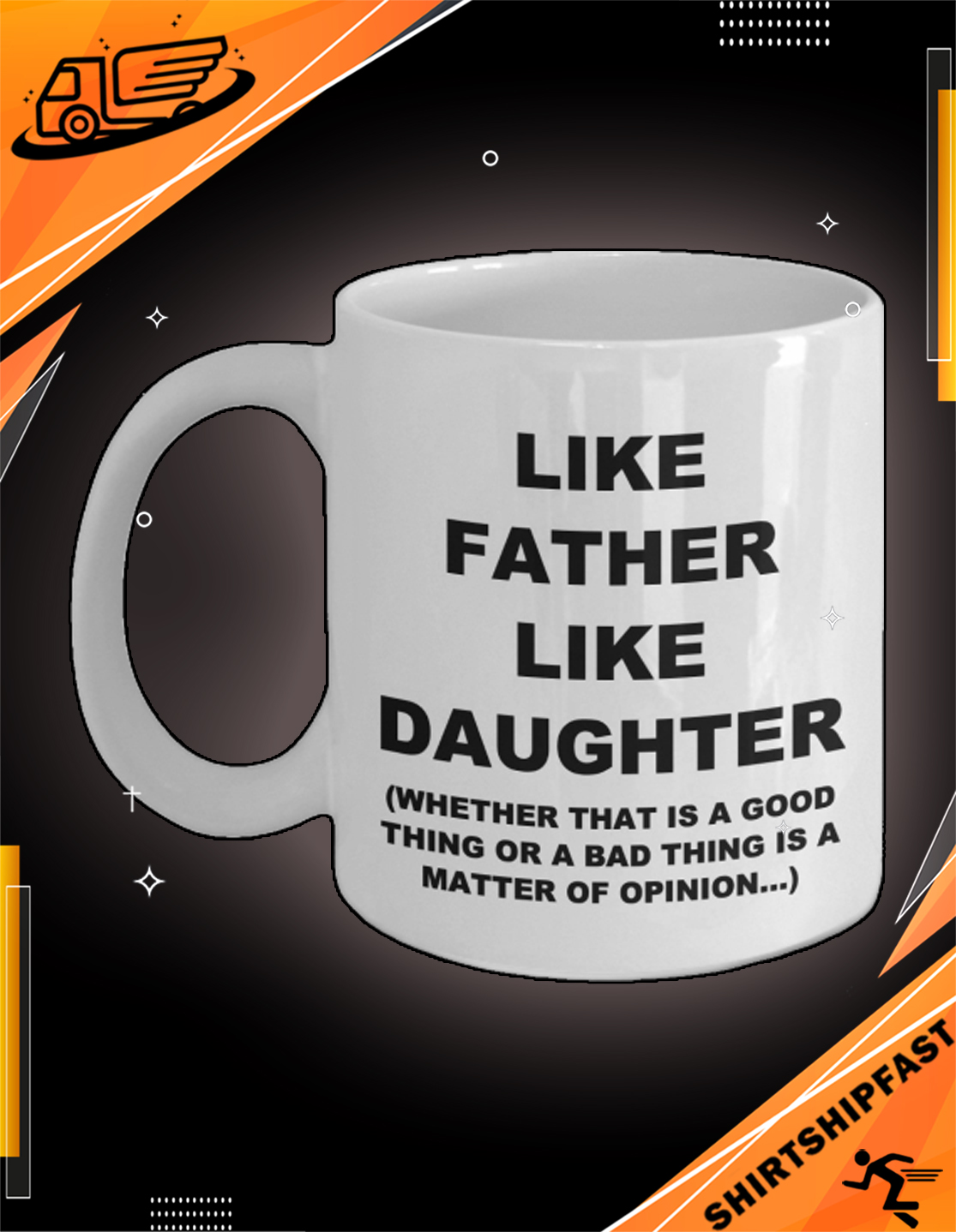 Like father like daughter father's day mug - Picture 3