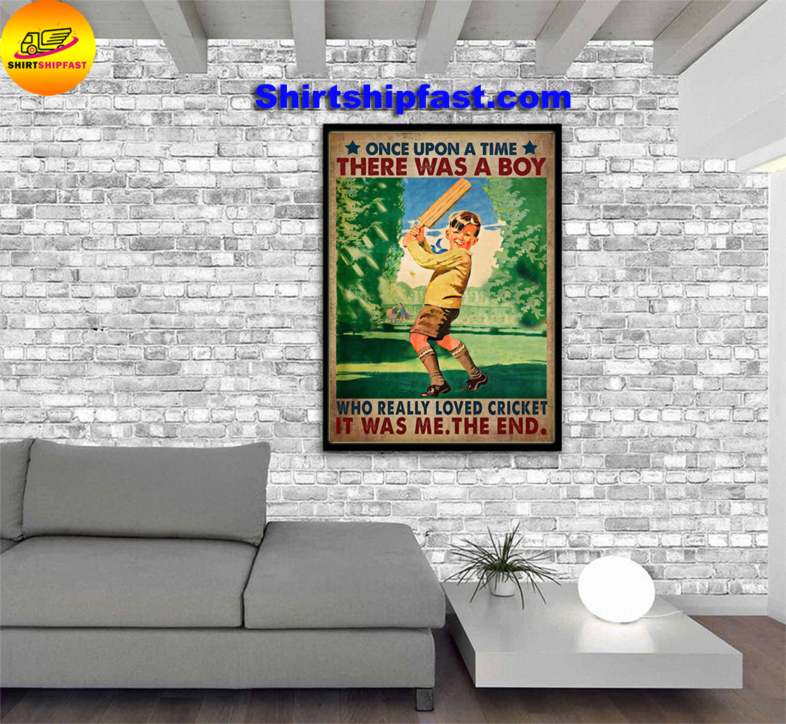 Once upon a time there was a boy who really loved cricket poster - Picture 3
