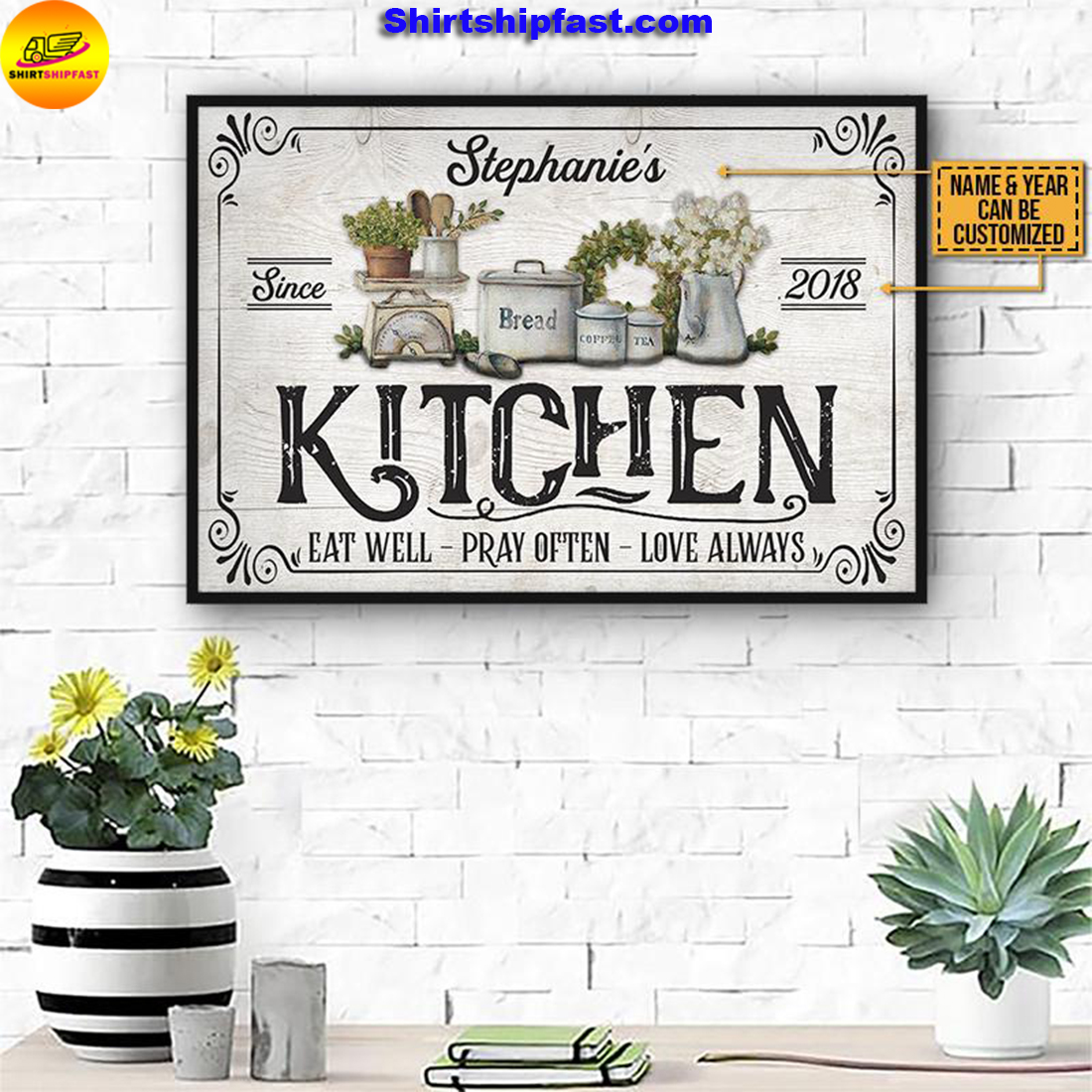 Personalized Farmhouse Kitchen Love Always Customized Poster - Picture 1